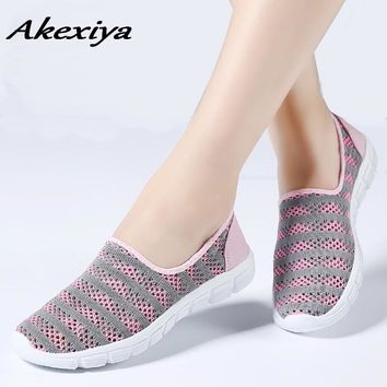 flat shoes women sneakers Ladies running 2018 Summer women shoes Plus size  Female Mesh sneakers women's shoes with platform
