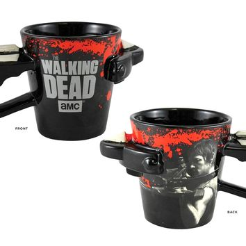 The Walking Dead OFFICIAL Daryl Dixon Crossbow Molded Ceramic Coffee Mug, 16oz Black