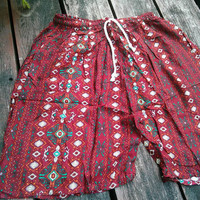 Unisex Men Women Red Hippies art Summer Beach Shorts Printed Boho Beach Hippie Hipster Clothing Aztec Ethnic Bohemian Ikat Boxer Baggy