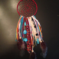 Red yellow and blue dream catcher