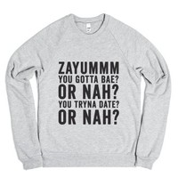 Zayum-Unisex Heather Grey Sweatshirt