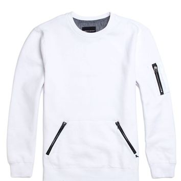 Modern Amusement Moto Crew Fleece - Mens Hoodies - White