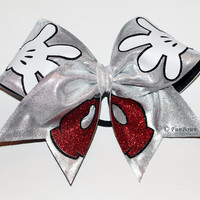 New 2014 Design Disney Mickey Hands and Pants Cheer Bow - A Funbows Original