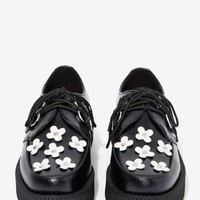 T.U.K. Viva Mondo Leather Creeper - Daisies