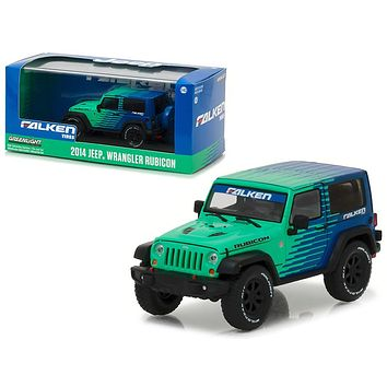 2014 Jeep Wrangler Rubicon Falken Tires 1/43 Diecast Model Car by Greenlight