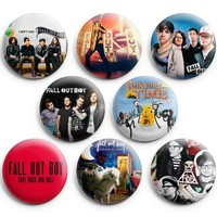 "Fall Out Boy Pinback Buttons Pins Badges 1.25"" 8Pcs,New"