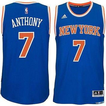 NEW YORK KNICKS CARMELO ANTHONY REPLICA JERSEY BLUE NEW & LICENSED ADULT X-LARGE