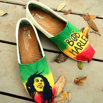 Bob Marley Themed TOMS