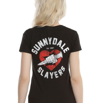 Buffy The Vampire Slayer Sunnydale Slayers Girls V-Neck T-Shirt