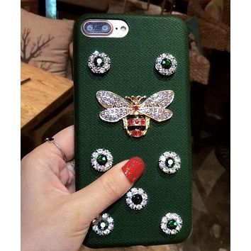 DCCKR2 Gucci  Bee with drill phone case shell  for iphone 6/6s,iphone 6p/ 6splus,iphone 7, iphone7plus