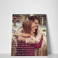 Gift for Bestfriend, Photo Art, Sisters by Heart, Wedding Gift for Sister
