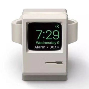 Apple Watch Charging Dock Charger Wireless Stand Station Old Mac Style Universal