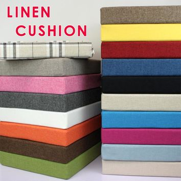 New linen Cushion Comfortable Lumbar Pain Relief Cushion Office Chair Seat Cushion Sofa pads