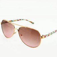 Flora Print Leg Sunglasses for Women