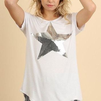 Umgee Top with Sequin Star