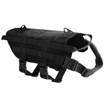 Outdoor Military Pet Dog Vest Harness Strong Nylon