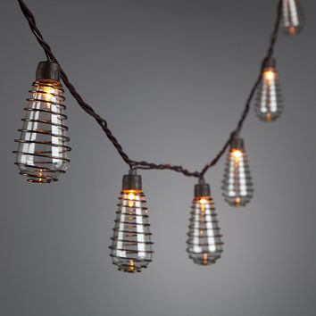 Glass Bulb Wire Spiral Wire Lights 10CT