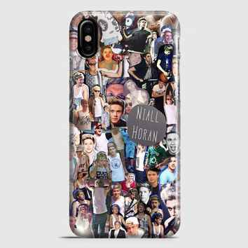 Niall Horan Collage Cartoon iPhone X Case