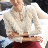 Vintage Style Lace Shirt