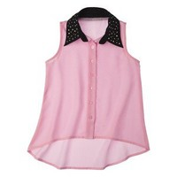 D-Signed Girls' Button Down Shirt -