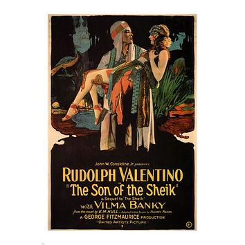 The son of the Sheik MOVIE POSTER Rudolph Valentino 1926 24X36 HOT VINTAGE