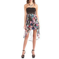 Studded Floral Tube Dress: Charlotte Russe