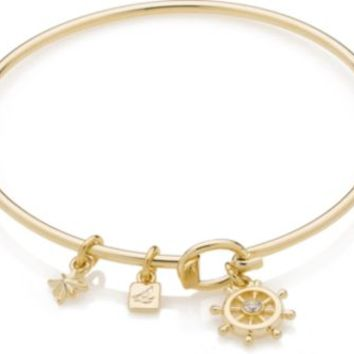 Sperry Top-Sider Ships Helm Bangle GoldWheel, Size One Size  Women's