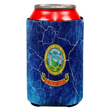 Idaho Vintage Distressed State Flag All Over Can Cooler