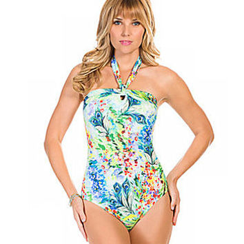 Inches Away Romantic Convertible Bandeau One Piece - Multi