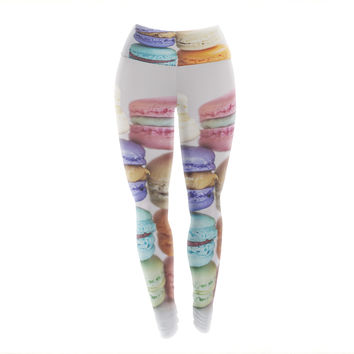 "Libertad Leal ""I Want Macaroons"" Yoga Leggings"