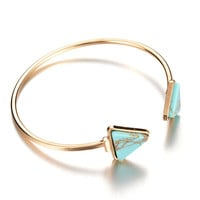 Jewelry New Arrival Shiny Stylish Vintage Turquoise Ring Bangle [8581995655]