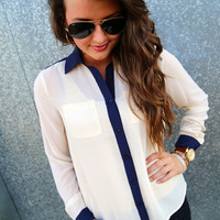 Simple and Chic {Navy + Cream}