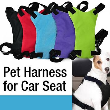 NEW Dog Cat Pet Safety Seat Belt Fit Vehicle Seatbelt Car Harness Vest Dog Leash Safety Seatbelt Collar S M L Free shipping