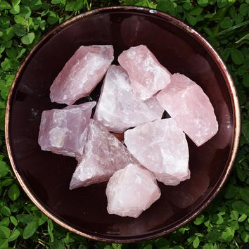 ROSE QUARTZ Raw Crystal - Love, Self Love, Self Care, Heart Chakra Stone
