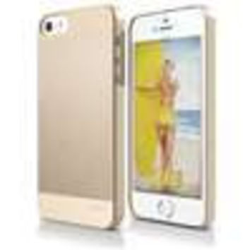 elago S5 Outfit MATRIX Aluminum and Polycarbonate Dual Case for the iPhone 5/5S - eco friendly Retail Packaging (Gold / Gold) - Spark Design Award