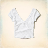Seaside Reef Texture Crop Top
