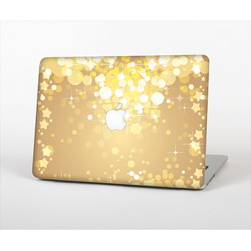 The Gold Unfocused Sparkles Skin Set for the Apple MacBook Air 11""