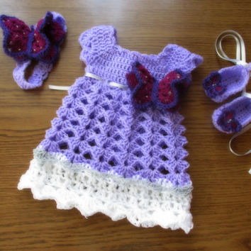 Dress, headband shoes crochet PATTERN , 0-12 months , dress pattern , baby girl dress pattern, crochet pattern