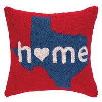 Home In Texas Hook Pillow