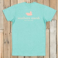 Southern Marsh Authentic Vibrant Tee - Heather - Washed Kelly Green