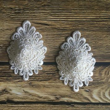 Gorgeous Lace Applique Nipple Pasties, White Lace Pasties, Lace Nipple Pasties, Appliqué Pasties, Bridal Nipple Pasties, Bridal Pasties Gift