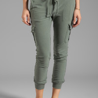 James Perse Knit Twill Cargo Pant in Jungle from REVOLVEclothing.com