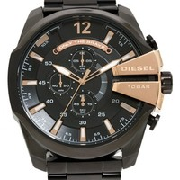 Men's DIESEL 'Mega Chief' Bracelet Watch, 51mm - Black/ Rose Gold
