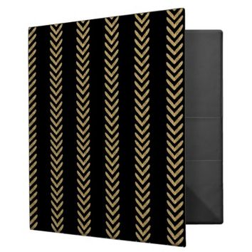 Black Gold Chevron Arrows Binder