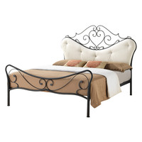 Design Studios Baxton Studio Alanna Platform Bed with Tufted Headboard