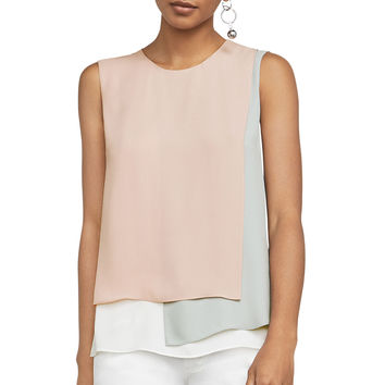 Georgette Color-Blocked Top