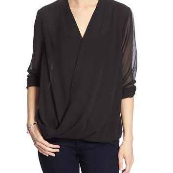 Banana Republic Factory Crossover Blouse