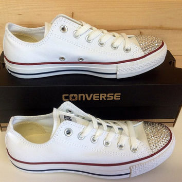 Swarovski crystal converse/chuck taylor shoes super cute handmade great gift or item for yourself!
