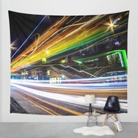 Light Trails 1 Wall Tapestry by Nicklas Gustafsson | Society6
