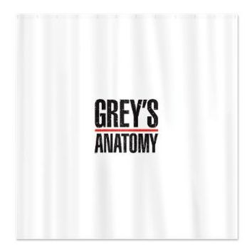 Grey's Faded Shower Curtain> Grey's Faded Logo> Grey's Anatomy TV Store